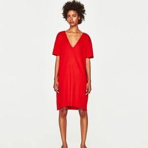 Zara women's v-neck dress